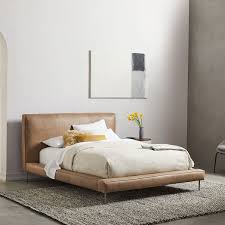 Pierce Leather Bed | west elm