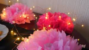 Tissue Paper Flower Decorations Diy Tissue Paper Flower Table Decoration Youtube