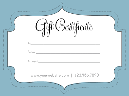 Sample Certificates Templates Plain Gift Certificate Template Zaxa Tk