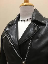 womens black leather biker jacket perfecto 3
