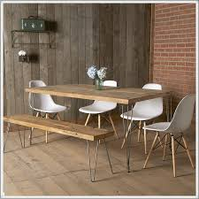 Metal And Wood Kitchen Table Modern Reclaimed Wood Dining Table Mid Century Furniture Urban