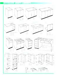 bathroom sink sizes cabinet height standard waste pipe size a