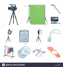 Design Attributes Making A Movie Cartoon Icons In Set Collection For Design