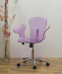 acrylic office chairs. Light Plum Tinted Acrylic Office Chair With Arms, Marvelous Desk  Ideas: Furniture Acrylic Office Chairs