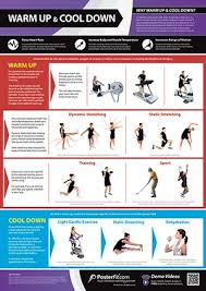 Gym And Fitness Chart Warm Up And Cool Down L