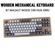 <b>IDOBAO 87 Walnut Wood</b> Mechanical Keyboard 108 Limu Hua DIY ...