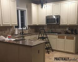 refinishing oak kitchen cabinets inspirational from to great a tale of painting oak cabinets