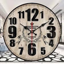 wood large decorative wall clocks home