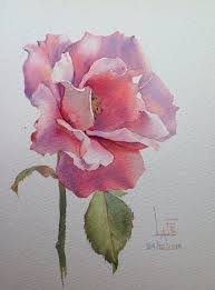 lafe watercolor without drawing