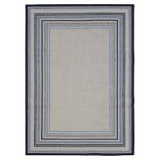 allen roth outdoor blue indoor outdoor coastal area rug common 8 x