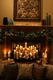 stunning candles in fireplace ideas images design ideas