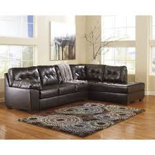 Ashley leather living room furniture Wood Ashley Furniture Alliston Piece Leather Sectional Sofa In Chocolate 201011766kit Cymax Ashley Furniture Alliston Piece Leather Sectional Sofa In