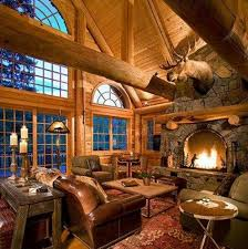 Log Cabin Living Room Extraordinary Log Cabin Living Room Home Design Ideas