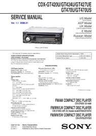 solve sony cdx gt420u problem Sony Cdx Gt5 10 Wiring service manual us model diagramas de sony cdx gt510 wiring instructions