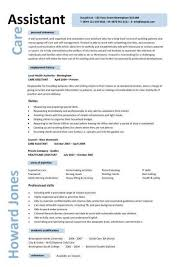 Work Resume Template From Caregiver Professional Resume Templates