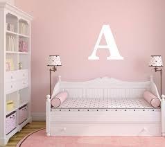 personalized single letter nursery wall