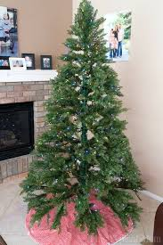 artificial xmas trees on