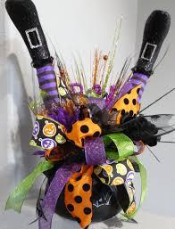 Witch Cauldron Centerpiece, Witch Legs Centerpiece, Halloween ...