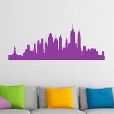 new york cityscape skyline wall sticker