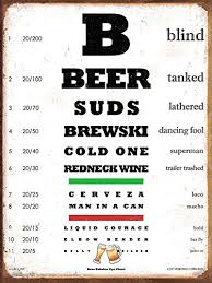 Amazon Com Jan Davidson Collection Beer Eye Chart Heavy