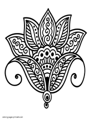 130 Flower Coloring Pages For Adults Free