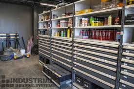 parts rooms can have everything from heavy bulky items to tiny fittings industrial shelving systems installs rousseau drawers in shelving to accommodate