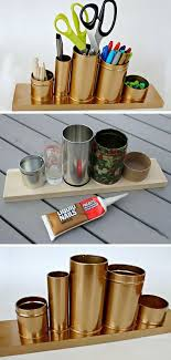 diy desk accessories for girls. Contemporary Desk Home  Crafts U0026 DIY Upcycle Tin Cans For A Desk Organizer  Click Pic For  18 Dorm Room Ideas Girls Decorating Idu2026 Bedroom  On Diy Accessories Y
