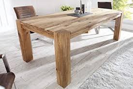 DuNord Design Esstisch Holz Massiv Eiche Massivholz Tisch Esszimmer  Holztisch 160cm CARVALHO
