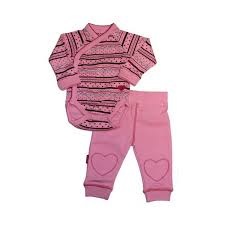 Kushies Side Snap Ls Hearts Stripes Onesie W Pants
