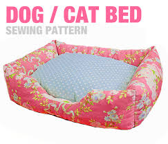 Dog Bed Patterns Beauteous DogCat Bed 48 Sizes Sewing Pattern