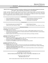 Commercial Real Estate Resume Real Estate Marketing Resumes