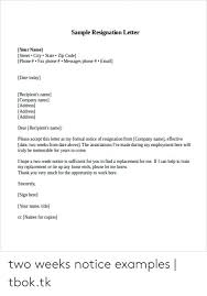Sample Resignation Letter Your Name Street City State Zip