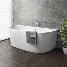 Image Bath 1700 Gable Modern Back To Wall Freestanding Bath 1700 800 580mm Mfsb12 Appliances Direct Gable Modern Back To Wall Freestanding Bath 1700 800 580mm