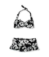 Anne Cole Bathing Suit Size Chart Anne Cole Womens Floral Skirtini 2 Piece Bandini