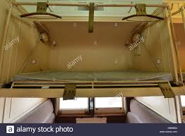 Folding Bunk Bed A Vintage Folding Bunk Bed On A Sleeper Train Carriage Stock Photo