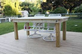 dining room Wooden Outdoor Furniture White Wood Patio Table With
