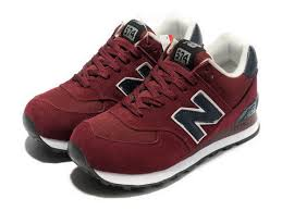 new balance shoes red and black. classic combination - 574 men purplish red/black the new balance shoes red and black k