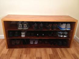brilliant design diy shoe bench created in three levelade