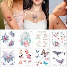 цветной рисунок временные татуировки наклейки мультфильм малыш бабочка единорог