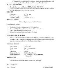Software Testing Resume Samples For Freshers Software Testing Resume