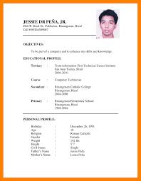 Resume Writing Format Pdf Resume Sample Pdfmple Cv For Job