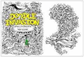 doodle invasion zifflin s coloring book