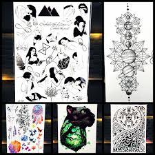 большой для тела книги по искусству временные татуировки стикеры