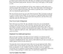 Stay Home Mom Resume Sample It Project Manager Cover Letter For At