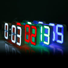 digital office wall clocks digital. 3D LED Digital Wall Clocks 24 / 12 Hours Display 3 Brightness Levels Dimmable Nightlight Snooze Office O