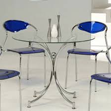 glass dining table uk only jenny round dining table in clear glass with chrome legs