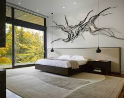 modern bedroom wall decor with wall art
