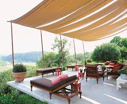 shady patio with diy outdoor canopy design and outdoor daybed also seating furniture