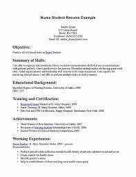 Student Nurse Resume Template Free Beautiful Nursing Student Resume
