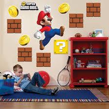 Super Mario Bros Bedroom Decor Amazoncom Super Mario Bros Room Decor Giant Wall Decals Toys